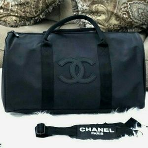 Authentic Chanel gift travel overnight bag